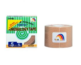 Kinesiology Tape 5cm x 5mt NATURAL (6 Pieces)
