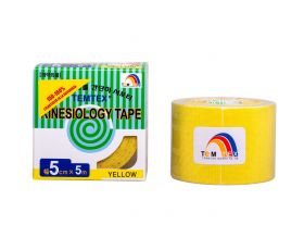 Kinesiology Tape 5cm x 5mt Colore GIALLO (6 Pezzi)