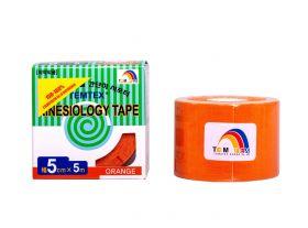 Kinesiology Tape 5cm x 5mt Colore ARANCIO (6 Pezzi)