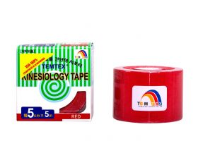 Kinesiology Tape 5cm x 5mt Colore ROSSO (6 Pezzi)