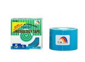 Kinesiology Tape 5cm x 5mt Colore BLU (6 Pezzi)
