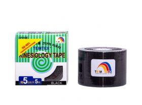 Kinesiology Tape 5cm x 5mt Colore NERO (6 Pezzi)