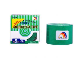 Kinesiology Tape 5cm x 5mt Colore VERDE (6 Pezzi)